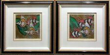 """Luis Sottil """"Little Colors Of the Sea"""" 2pieces set Hand Signed with Custom Frame"""
