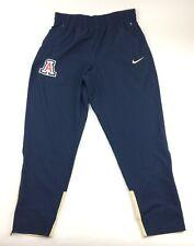New Nike Arizona Wildcats Basketball Sweatpant Men's L Navy Gold Zipper Pockets
