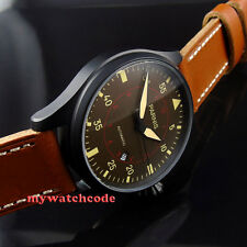 47mm parnis coffee dial PVD case date window miyota automatic mens watch P367B