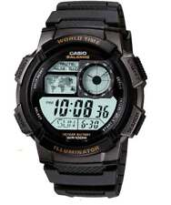 CASIO WATCH - SPORTS SWIMMING, WORLD TIME, 5-ALARMS, STOPWATCH,TIMER AE-1000W-1A