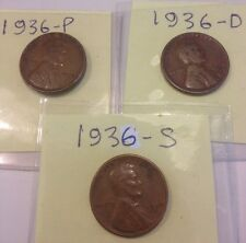 """New listing 1936 Pds Lincoln Cents """"good"""" album fillers $Free Shipping$"""