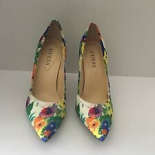 GUESS Women's Floral Pointy Toe Pumps Stiletto High Heels Shoes Sz. 7M