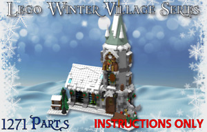 Lego Winter Village Classic Church -INSTRUCTIONS ONLY- Christmas MOC