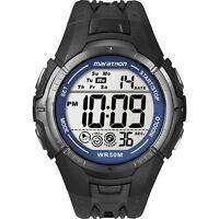 Mens Black Ironman Marathon Digital Chronograph Timex T5K359 Alarm Wrist Watch