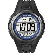 Mens Black Ironman Marathon Digital Chronograph Timex T5K359 Alarm Wrist Watch