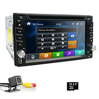 Cam+GPS Nav Universal Double Din Car Stereo Radio DVD CD Player USB/SD In Dash