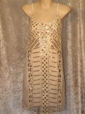 Sequins & Beads Art Nouveau Pattern Dress, 1920 or 1960