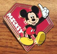 Walt Disney World Mickey Mouse On a Red Diamond Collectible Trading Pin / Brooch