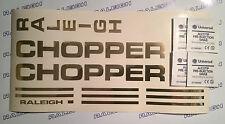 RALEIGH CHOPPER MKI DECAL SET IN MIRROR GOLD