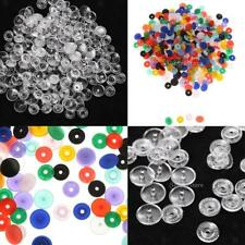 150SET PLASTIC RESIN CLEAR SNAPS BUTTON FASTENERS PRESS STUD POPPERS SIZE T5
