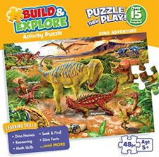 Buffalo Games Dino Adventure Kids 48 Large Piece Dinosaur Jigsaw Puzzle