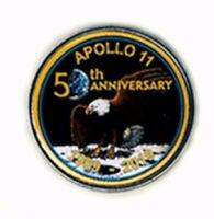 Apollo 11 50th Anniversary of Moon Landing Pin NASA's Space Program Enamel/Clasp