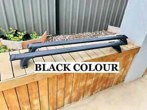2x BLACK Aerodynamic Cross bar / Roof rack for Peugeot 307 Hatch  2001 - 2007  L