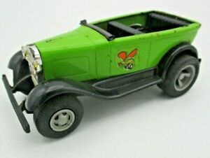 """Vintage 1970s Tonka Model A Ford Car Green, """"The Stinger"""" - 4½"""" Long"""