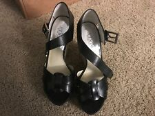 Michael Michel Kors, Somerly Wedge, color: Black, Material: Leather Size: 8M