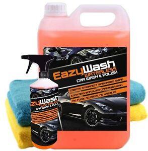 5 LITRE WATERLESS KIT CAR WASH CLEANER CARNAUBA WAX SHINE POLISH VALETING V04