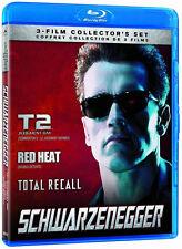 Terminator 2 Judgment Day/ Red Heat / Total Recall (Blu-ray) Schwarzenegger NEW