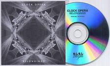 CLOCK OPERA Belongings 2011 UK 2-trk promo test CD Moshi Moshi