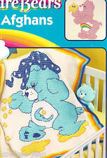 Care Bears bear afghans to crochet pattern leaflet -see pics