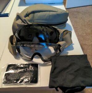 US Military Ballistic Goggles - Desert Tan Clear & Smoke