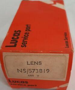 Triumph TR4, TR4a, TR250 Lucas Rear Tail Light Lens (NOS) New in Box NS/54578034