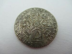 1787 Shilling Silver With Semee of Hearts High Grade