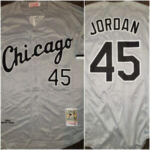 Throwback Chicago White Sox Michael Jordan Grey Size XL Replica Baseball Jersey
