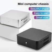 Mini ITX Computer PC Case Desktop HTPC Aluminum Chassis with 2 WiFi 2 USB ports