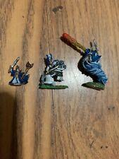 Warmaster Personajes elfo noble Héroes/Campeones bien pintados Games Workshop Metal
