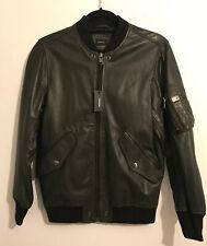 Diesel Leather Jacket Green R-Kittie Size S BNWT