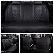 Luxury 5 Seats Full Set 3D Surround Breathable PU Leather Car Seat Cover Cushion