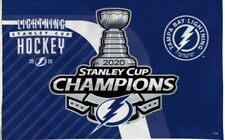 Tampa Bay Lightning 2020 Champion Flag 3x5 Stanley Cup Blue NHL Champions