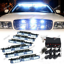 54 White LED Warning Flash Strobe Light Bar Emergency Hazard Deck Dash Grille#98