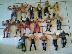 17 x WWF WRESTLING SUPERSTARS THUMB WRESTLERS VINTAGE FIGURE