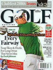 Golf Magazine 3/10,Zach Johnson,Michelle Wie,March 2010,NEW
