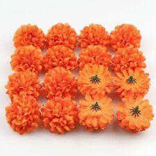 """50x2""""Orange Daisy Silk Artificial Fake Flower head DIY Wedding Bouquet Decor"""