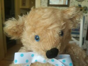 OOAK mohair Artist Teddy bear by Esther Jennings, California 14in EUC