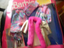Vintage Barbie Private Collection Pink Silver Metallic Coat pants suit, dress