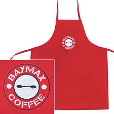 Disney's Big Hero 6 Baymax Starbucks Logo Red Polyester Children's Apron Bib