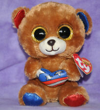 "Ty Beanie Boo Boos Stars the Patriot Bear 6"" Cracker Barrel Exclusive  NWNMT"