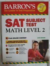 SAT SUBJECT TEST MATH LEVEL 2 BARRON'S 13TH EDITION