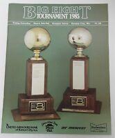 Vintage 1985 BIG 8 KANSAS JAYHAWKS BASKETBALL KU PROGRAM BILL SELF DANNY MANNING