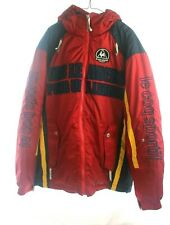 Vintage Le Coq Sportif Mens Winter Ski Jacket with Hood Retro Style Size Large