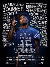 2017 KY University of Kentucky Wildcats Football Schedule/Poster Stephen Johnson