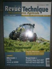 Claas tracteur ARES 547 557 567 577 676 657 697 : revue technique RTMA 179