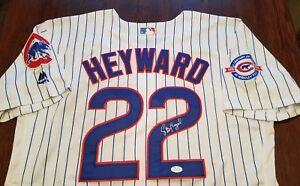 JASON HEYWARD Signed Jersey JSA Certified Auto Chicago Cubs 22