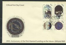 Belize 1989 SG 1055-8 Moonlanding Anniversary Space First Day Cover