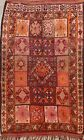Vintage Authentic Moroccan Vegetable Dye Oriental Area Rug Hand-knotted Wool 6x9