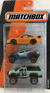 Matchbox On A Mission 3 Pack Gift Set no.4 Assorted Cars