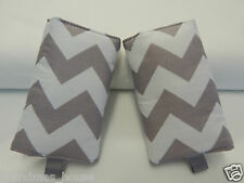Baby Carrier Dribble Teething Pads Suits Most Carriers + Ergo - Grey Chevron